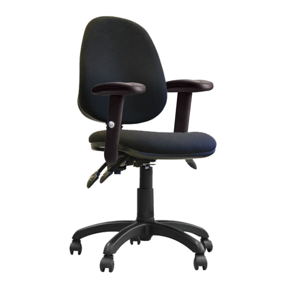 Java 200 Twin Lever, High Back, Operator Chair, Height Adjustable Arms. Red, Blue, Green or Black